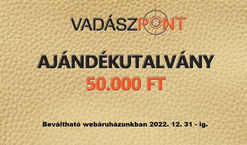 AJÉNDÉKUTALVÁNY 50.000 FT