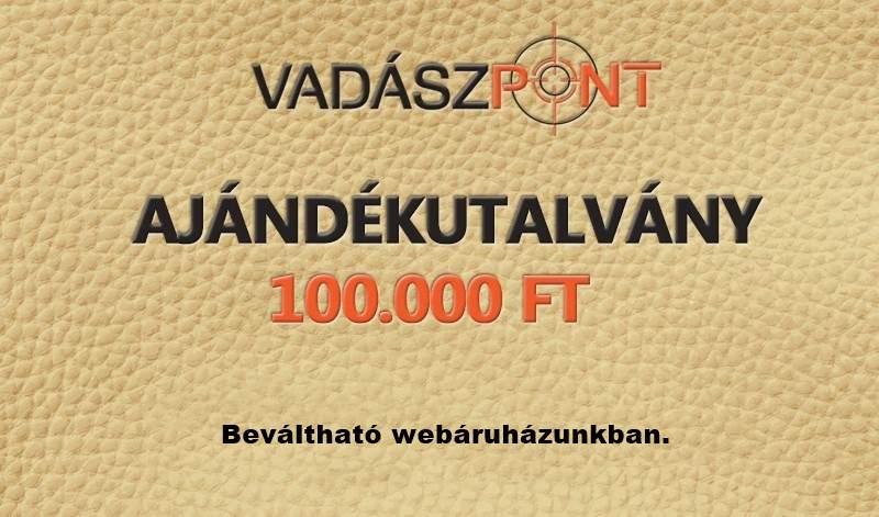 AJÁNDÉKUTALVÁNY 100.000 FT